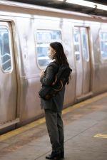 woman near train